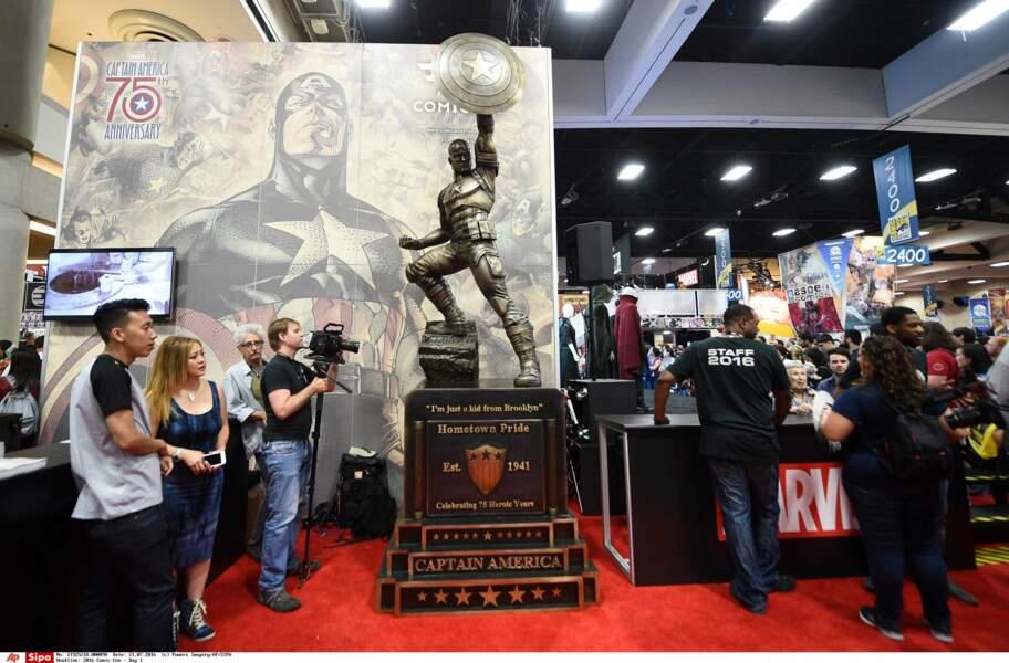 Autre évènement célébré au Comic-Con, les 75 ans de CAPTAIN AMERICA. Happy B-Day !