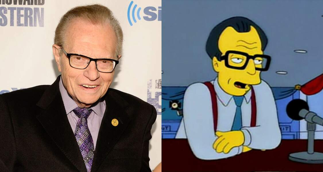 Larry King qui a longtemps eu une émission d'interview sur CNN