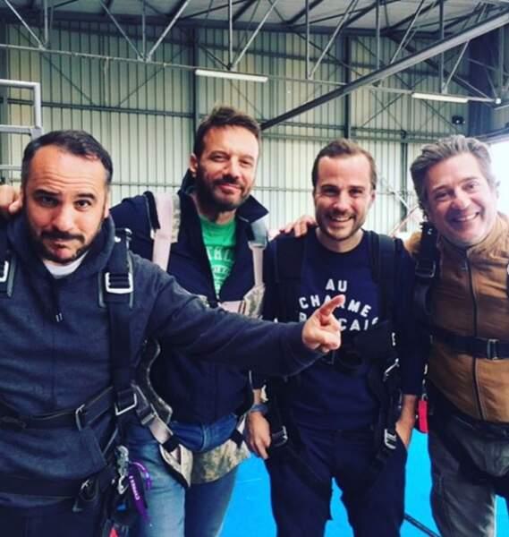 Samuel Le Bihan, Eric Theobald, Francois-Xavier Demaison et son frère Thibault se préparent pour le grand saut !
