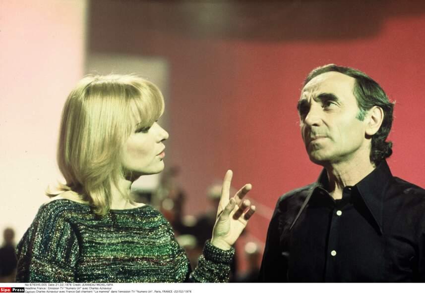 En duo sur La Mamma avec France Gall dans Numero Un en 1976