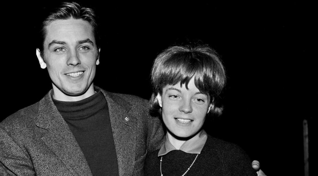 Alain Delon et Romy Schneider, décédée le 29 mai 1982.