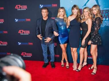 Sylvester Stallone et ses filles à l'avant-première de 47 meters down uncaged