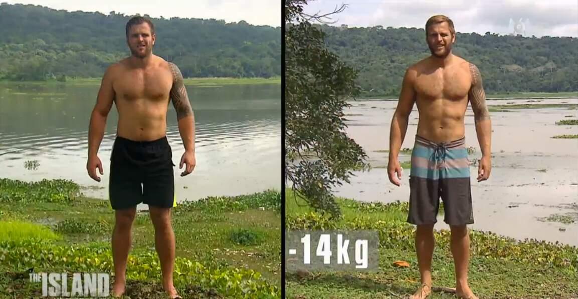 La perte de poids de Julien est impressionnante : moins 14 kilos !