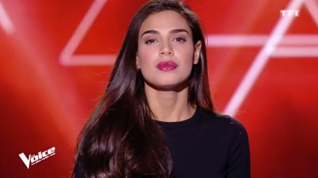 Lorrah Cortesi, Brésilienne de 28 ans, est dans l'équipe de Florent Pagny