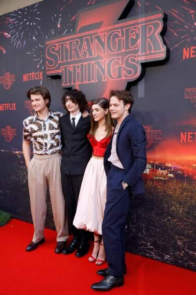 Joe Keery, Finn Wolfhard, Natalia Dyer et Charlie Heaton ont fêté la sortie de Stranger Things saison 3 à Paris