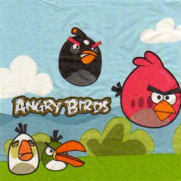 Serviettes en papier Angry Birds