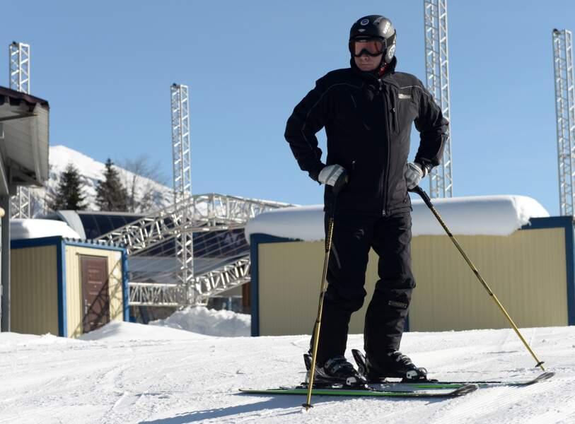 Vladimir concentré avant de dévaler les pistes.
