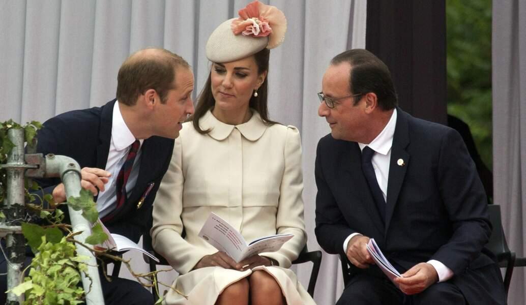 Août 2014, le couple participe aux commémorations de la 1ère Guerre Mondiale aux côtés de François Hollande