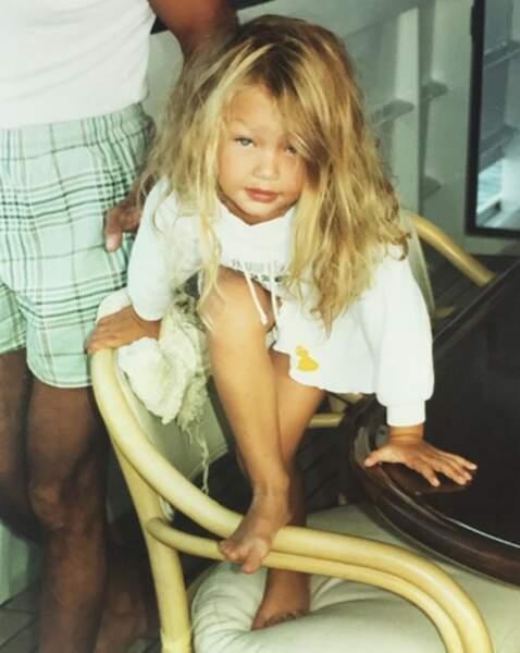 Voici Gigi Hadid enfant…