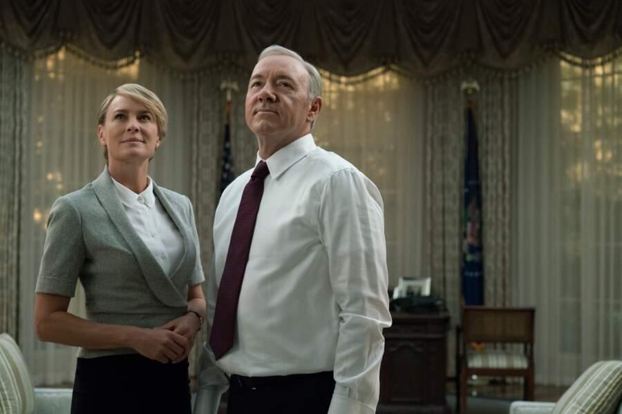 Dans House of Cards, Kevin Spacey et Robin Wright incarne un couple présidentiel