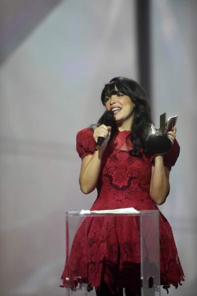 Indila a reçu le titre de révélation de l'année