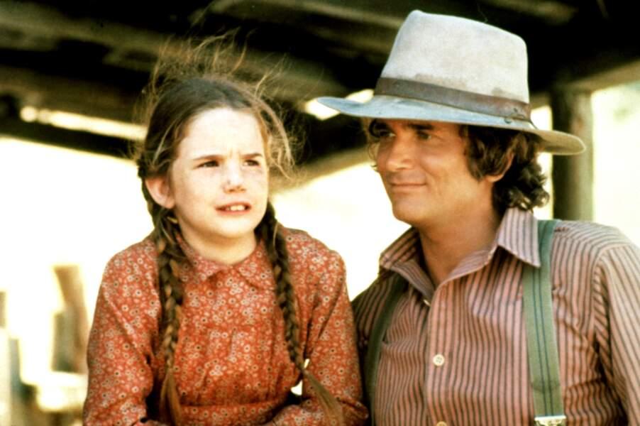 Melissa Gilbert dans La Petite Maison dans la Prairie aux côtés de Michael Landon
