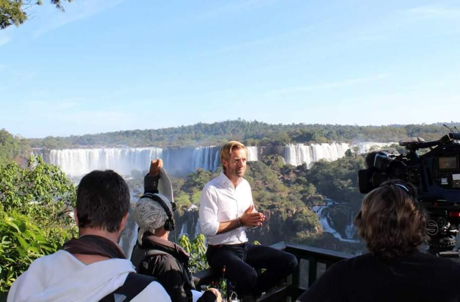 ... et là devant les chutes d'Iguazu, à la frontière entre le Brésil et l'Argentine. Pas mal, comme tour du monde !