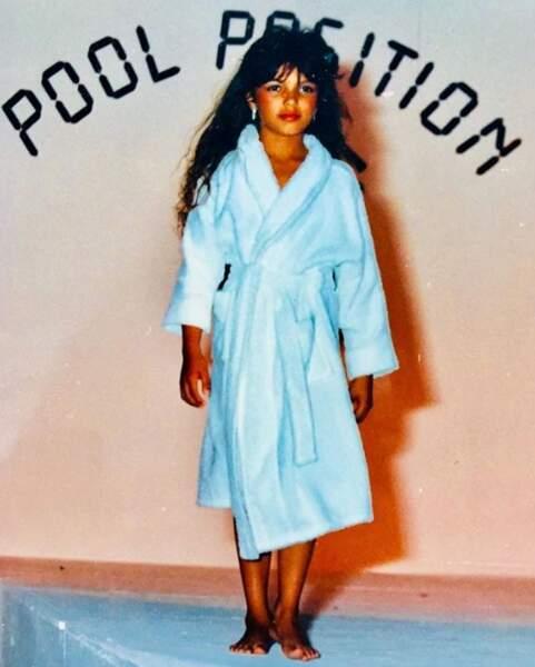 Et Séverine Ferrer s'est remémoré le bon vieux temps avec cette photo, enfant, datant de 1989 !
