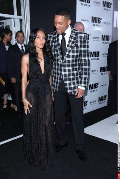 Jada Pinkett Smith et Will à l'avant première de Men in Black 3.