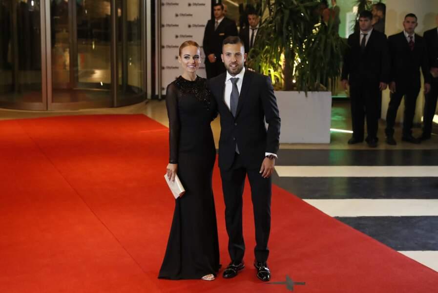 Jordi Alba et sa petite amie Romarey Ventura