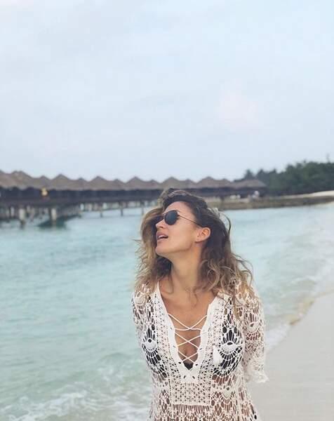Vitaa profite du soleil aux Maldives