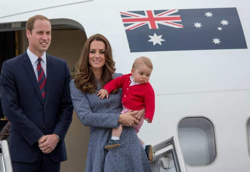 Bébé George a connu cette année ses premiers voyages officiels. Il a conquis l'Australie !