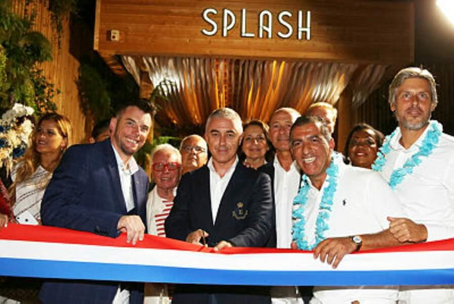 Norbert Tarayre, Manuel Aeschlimann et Hakim Gaouaoui ont inauguré le restaurant Le Splash, à Asnières