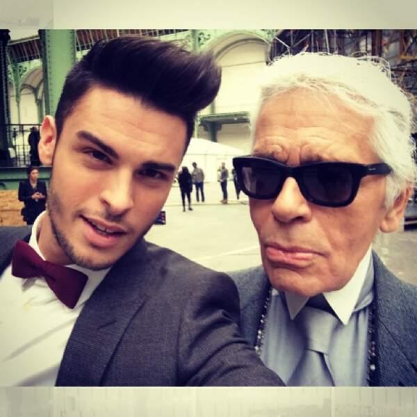 Baptiste Giabiconi est un mannequin, proche de Karl Lagerfeld et chanteur