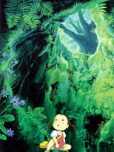 Mon voisin Totoro (1988) : Ici aussi, la nature verdoyante est magnifiée