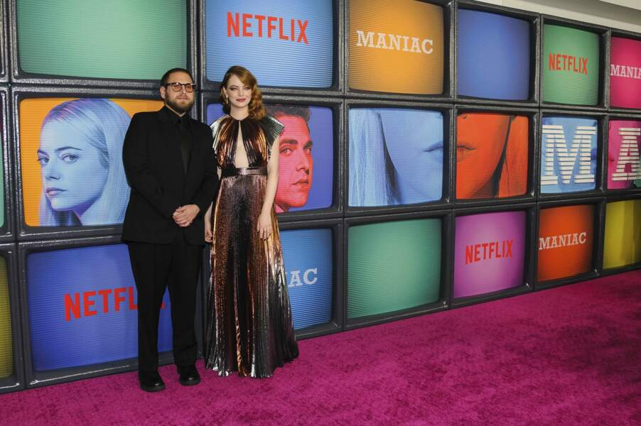 2018 : il est la co-star de la série Netflix Maniac