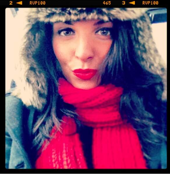 Ludivine Aubourg (The Voice) en mode chapka girl