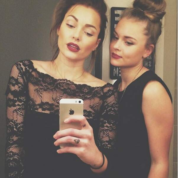 Ambiance très glamour pour Caroline Receveur et sa soeur