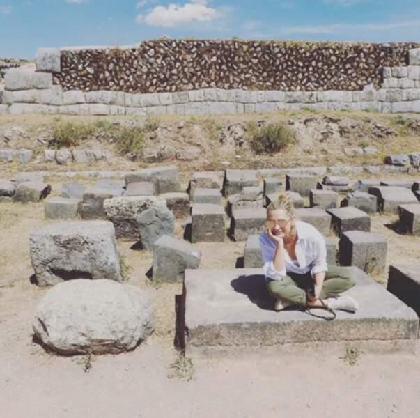Tandis que Sarah Michelle Gellar découvrait les merveilles du Pérou !