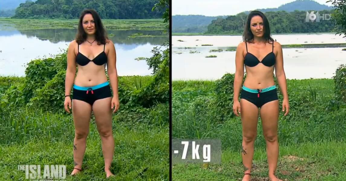 Sandy, la wonder woman de l'équipe, a elle aussi perdu 7 kilos