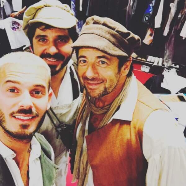 Trois beaux gosses pour le prix d'un : Matt Pokora, Patrick Fiori et Patrick Bruel.