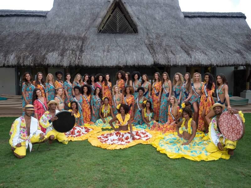 Pour leur voyage de préparation, les Miss se sont envolées à l'île Maurice