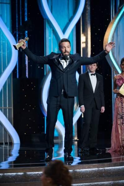 Victoire pour Ben Affleck, lauréat du meilleur réalisateur et du meilleur film pour Argo.