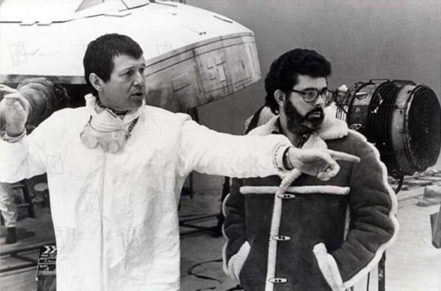 Richard Marquand and George Lucas sur le plateau