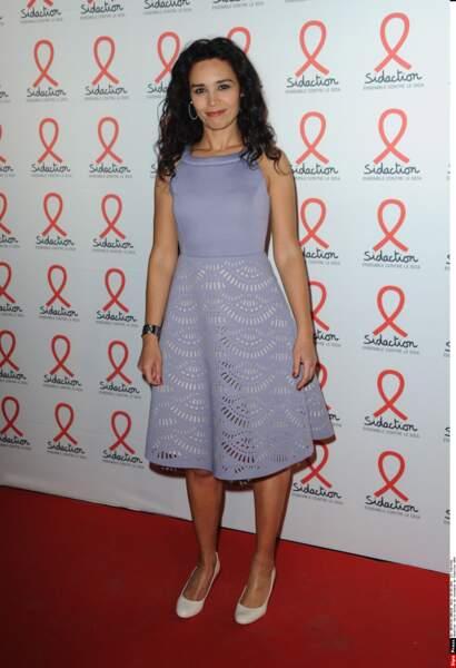 Aida Touihri, rayonnante, pour le lancement du Sidaction 2016