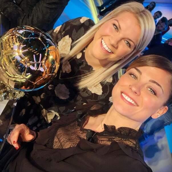 Deux footballeuses de talent : Ada Hegerberg et Laure Boulleau.