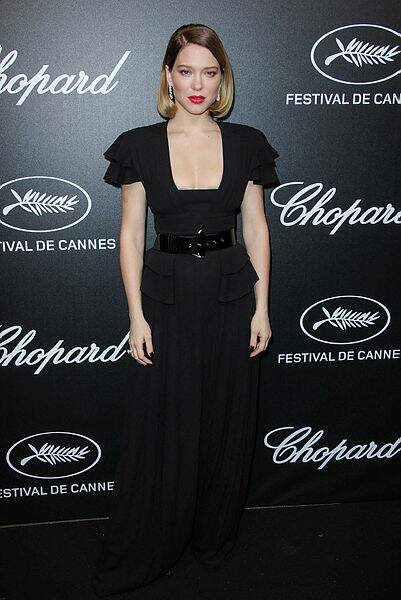 Léa Seydoux a opté pour un look rétro