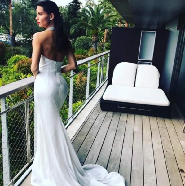 Adriana Lima aussi a profité des réseaux sociaux pour s'afficher en tenue de soirée