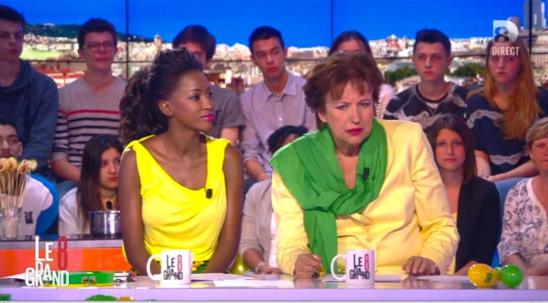 """Dans la catégorie """"couleurs"""" : Hapsatou Sy et Roselyne Bachelot aux couleurs du Brésil"""