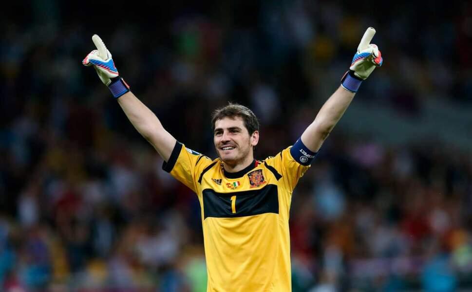 Le footballeur espagnol Iker Casillas, 33 ans (oui, vous l'avez peut-être déjà vu dans des pubs à la télé)