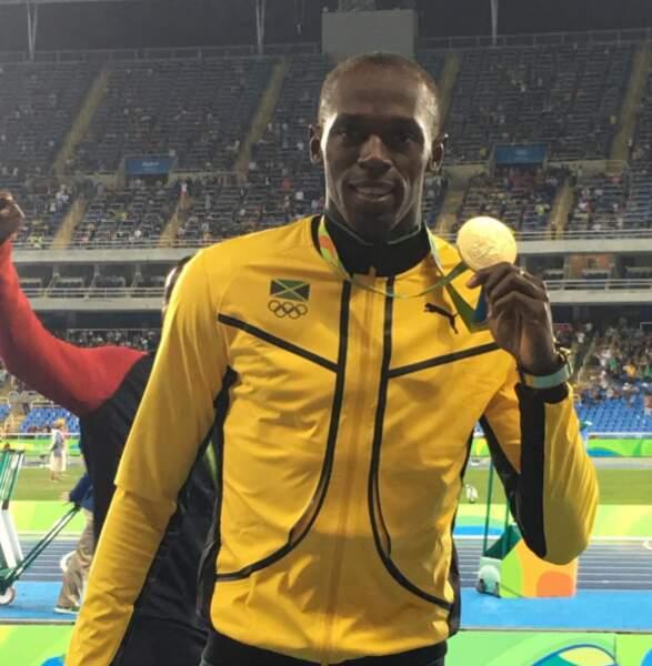 Le roi Usain Bolt a frappé. Au menu, de l'or, de l'or, et encore de l'or