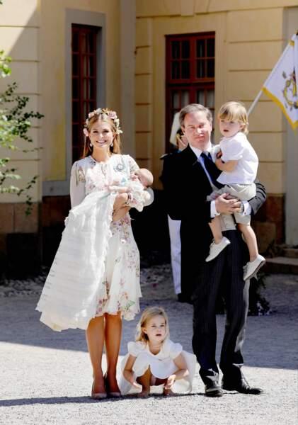 La Princesse Madeleine de Suède et son mari sont parents d'une famille nombreuse