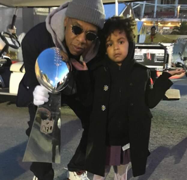 Blue Ivy et son papounet Jay-Z.