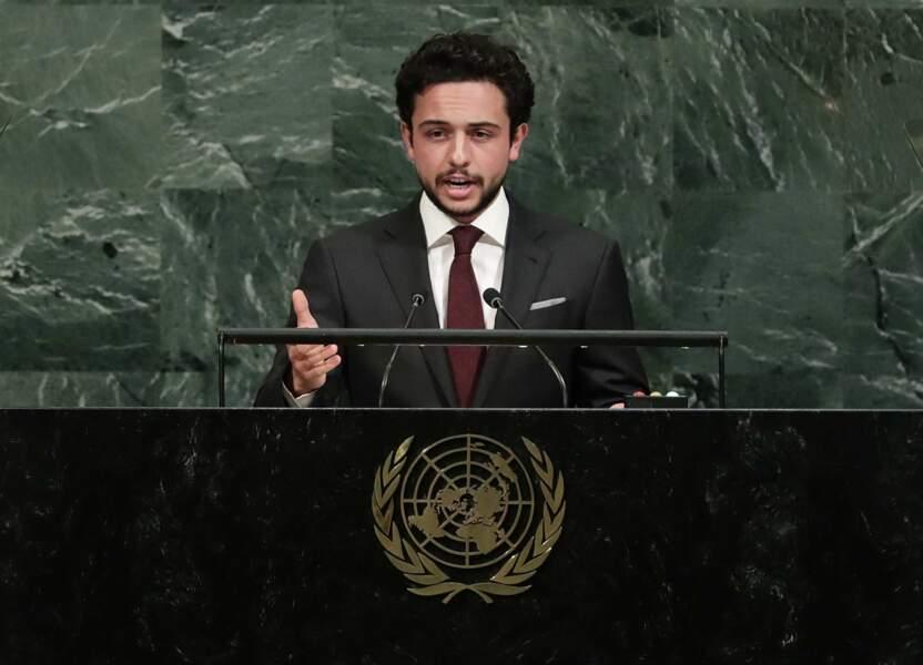 Hussein ben Abdallah (24 ans), Fils du roi Abdallah II et de la reine Rania