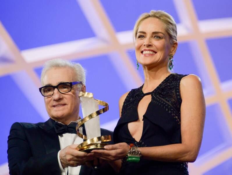Martin Scorsese et Sharon Stone lors de la 13e édition du Festival de Marrakech