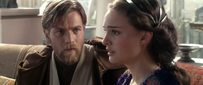 Obi-wan et Padmé face à la montée de la force obscure dans La Revanche des Sith (2005)