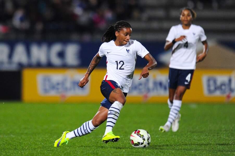 Elodie Thomis, 117 sélections, est un élément moteur de l'équipe