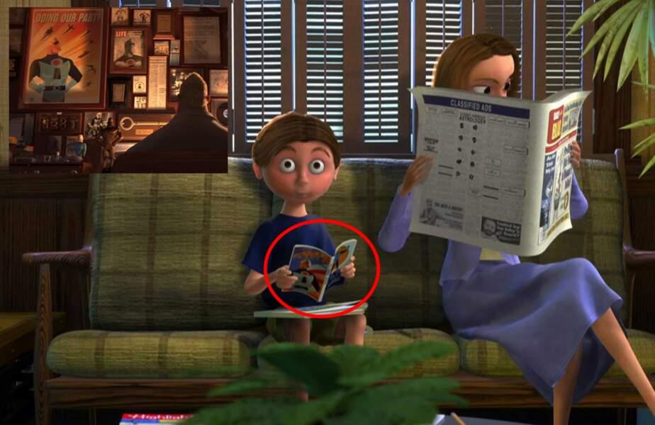 Le Monde de Nemo : Un jeune patient lit une BD Les Indestructibles chez le dentiste