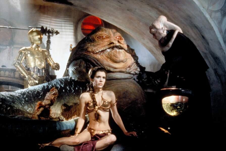 Leia esclave de Jabba dans Le Retour du Jedi (1983)