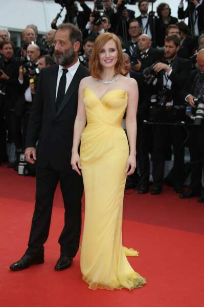 Jessica Chastain et Vincent Lindon, couple d'un soir